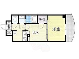 ノルデンタワー新大阪アネックス 17階1LDKの間取り