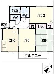ヴィラエイトA棟[1階]の間取り