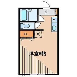 エフォートK[2階]の間取り