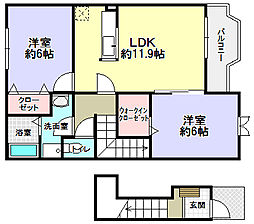 ボヌール[2階]の間取り
