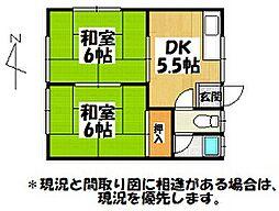 浜田アパート[101号室]の間取り