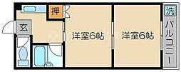 ロイヤルコーポ大同[5階]の間取り