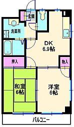 タウンコートヨコハマ[301号室]の間取り