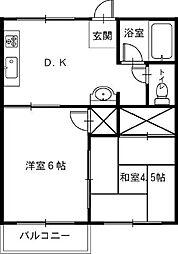 大塚サンハイツ[2DK号室]の間取り
