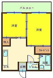 第一白石ビル[5階]の間取り
