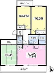 枚岡駅 徒歩8分4階Fの間取り画像