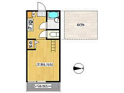 菖蒲アパートA[203号室]の間取り