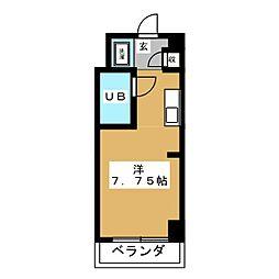レジデンスシャトー[6階]の間取り