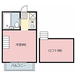 カサベルデ岩田[4階]の間取り