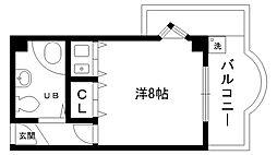 ラガール夙川[4階]の間取り