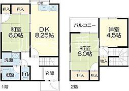 [テラスハウス] 兵庫県加西市北条町北条 の賃貸【兵庫県 / 加西市】の間取り