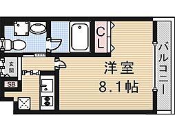 大阪府東大阪市西堤学園町1の賃貸マンションの間取り