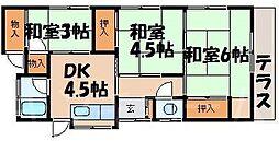 [一戸建] 広島県広島市安芸区中野2丁目 の賃貸【/】の間取り