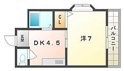 ウィスコM大和田[3階]の間取り
