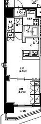 東武伊勢崎線 曳舟駅 徒歩5分の賃貸マンション 10階1LDKの間取り