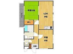 ハイツS&Kパート3[2階]の間取り