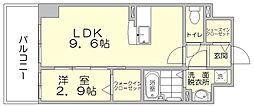 パークサイド博多駅東[3階]の間取り