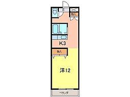 クリーンハイツ安井III[152号室]の間取り