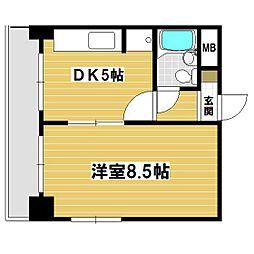 第一栄ビル[203号室]の間取り