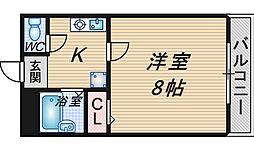 北邸館[307号室]の間取り
