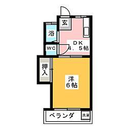 第2コーポ近藤[1階]の間取り