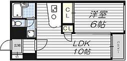 バーディハウス井ヅツ[4階]の間取り