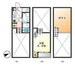 ハーモニーテラス十番[2階]の間取り