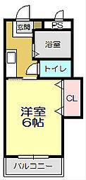 サンライズ徳力[2-B号室]の間取り
