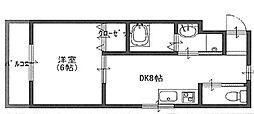 シティコート堺東(熊野小学校区)[8階]の間取り