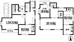 [一戸建] 大阪府池田市五月丘2丁目 の賃貸【/】の間取り