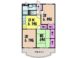 愛媛県松山市余戸西4丁目の賃貸マンションの間取り