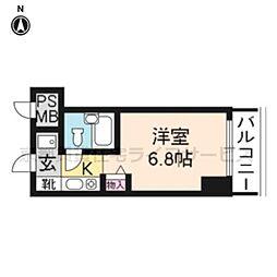 プラネシア京都[802号室]の間取り