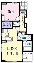 プリムローズミキ[102号室]の間取り