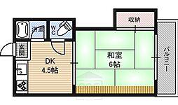 ヒラタコーポ[2階]の間取り
