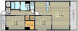 ラシュレ浜野[7階]の間取り