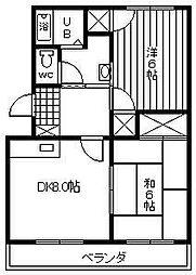 楠の台ハイツ[2階]の間取り