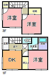 [一戸建] 茨城県水戸市河和田3丁目 の賃貸【/】の間取り