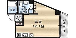 JR東海道・山陽本線 摩耶駅 徒歩14分の賃貸マンション 7階ワンルームの間取り