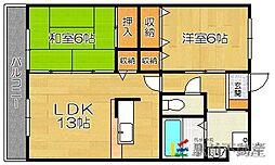 福岡県福岡市東区土井4丁目の賃貸マンションの間取り
