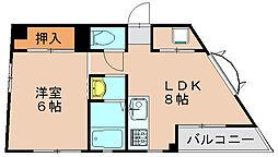 塩浜三宅ビル[3階]の間取り