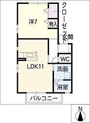 テュアメゾン[1階]の間取り
