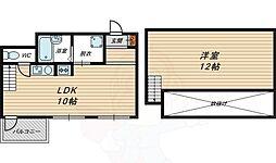 JR大阪環状線 京橋駅 徒歩6分の賃貸マンション 5階1LDKの間取り