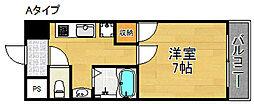 ジュネス住之江[4階]の間取り