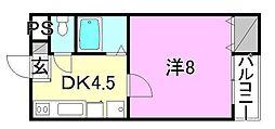 ニュークリアス[302 号室号室]の間取り
