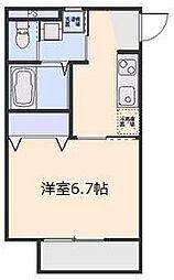 埼玉県さいたま市大宮区土手町2丁目の賃貸アパートの間取り