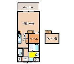 宮崎県宮崎市大工2丁目の賃貸アパートの間取り