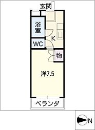 オーエスコーポ蔵前[3階]の間取り