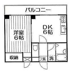 ベルフラワー井草[207号室]の間取り