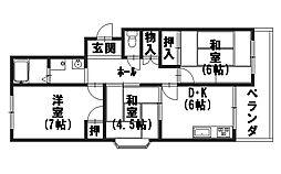 第二藤田マンション[303号室]の間取り