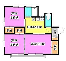 [一戸建] 東京都清瀬市上清戸2丁目 の賃貸【/】の間取り